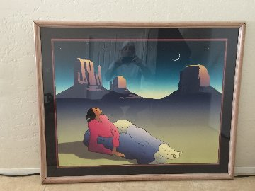 Crescent Moon AP 1987 Limited Edition Print - R.C. Gorman