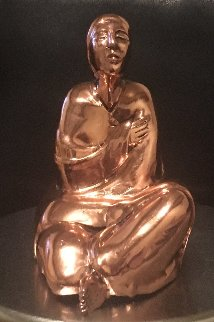 Sitting Woman Rare Cast Copper Sculpture  1980 Sculpture - R.C. Gorman