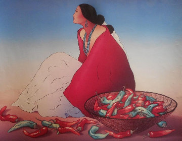 Navajo Chiles 1978 Limited Edition Print - R.C. Gorman