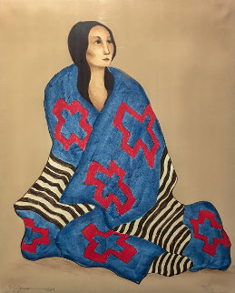 Chief's Blanket State 1 1980 Limited Edition Print - R.C. Gorman