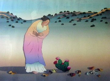 Flowers Of Los Lunas 1987 Limited Edition Print - R.C. Gorman