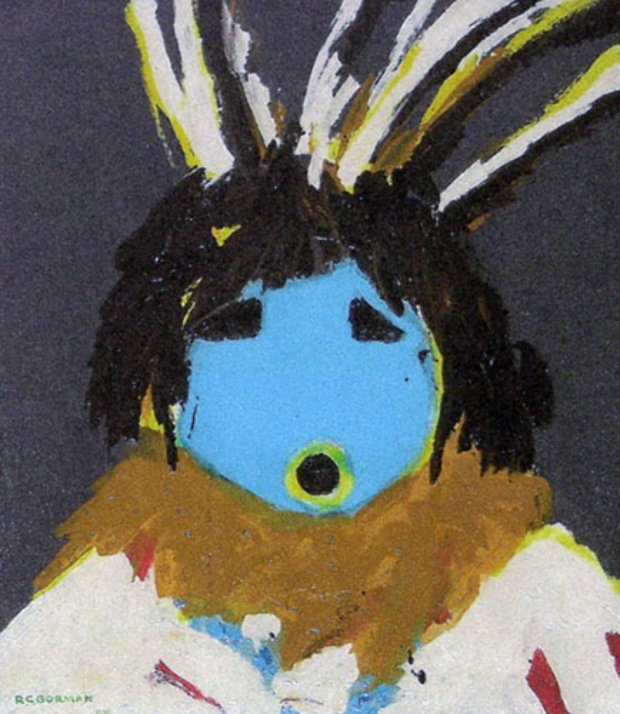 Blue Indian 1968 Very Early Work 24x20