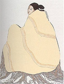 Lady in a Yellow Blanket, (State L) 1977 Limited Edition Print - R.C. Gorman