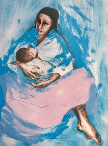 Woman 1972 Mother And Child By R C Gorman