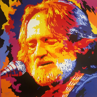 Willie Nelson 2005 52x52 HS by Willie Original Painting - Vladimir Gorsky