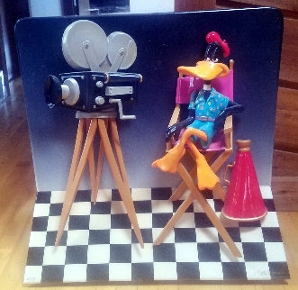 Daffy Duck 3-D, 1993 29x30x3 Sculpture - Roark Gourley