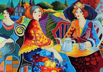Relaxed Afternoon in the Garden Limited Edition Print - Patricia Govezensky