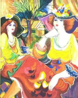 Friends At Brunch 2000 Limited Edition Print - Patricia Govezensky