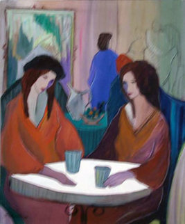 Cafe Diane 1988 Original Painting - Patricia Govezensky