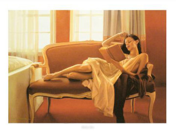 Reclined Read 2009 Limited Edition Print - Carrie Graber
