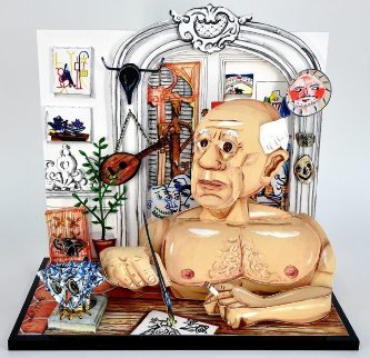 Picasso 3-D 1997 Sculpture - Red Grooms