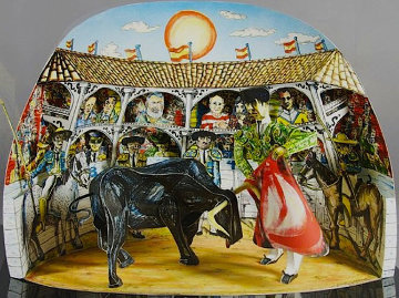 Los Aficionados 3-D 1990 Limited Edition Print - Red Grooms