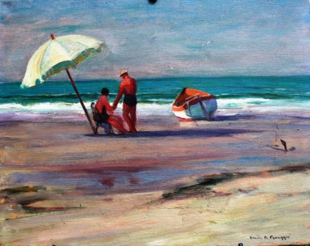Beach Umbrella 1952 16x20