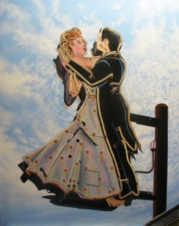 Ballroom Dancing 2011 48x38 Original Painting - James Gucwa