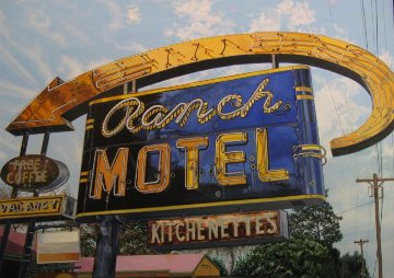 Ranch Motel 2013 28x40 Original Painting - James Gucwa