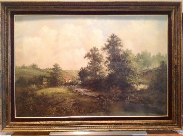 Country Landscape 29x41 Original Painting - Eleonore Guinther