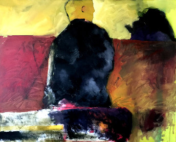 Thoughts Forced Upon Myself 1999 44x64 Original Painting - Chris  Gwaltney