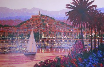 Riviera Twilight Embellished Limited Edition Print - Kerry Hallam