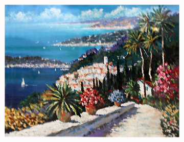 Eze Village Limited Edition Print - Kerry Hallam