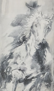 Horse And Rider 42x26 Limited Edition Print - Richard Hambleton