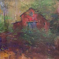 Upstate Barn Original Painting - Albert Handell