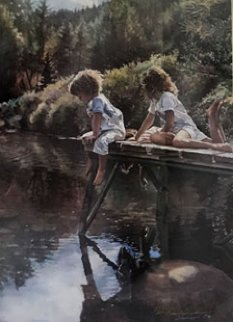 Watching And Reflecting 1991 Limited Edition Print - Steve Hanks