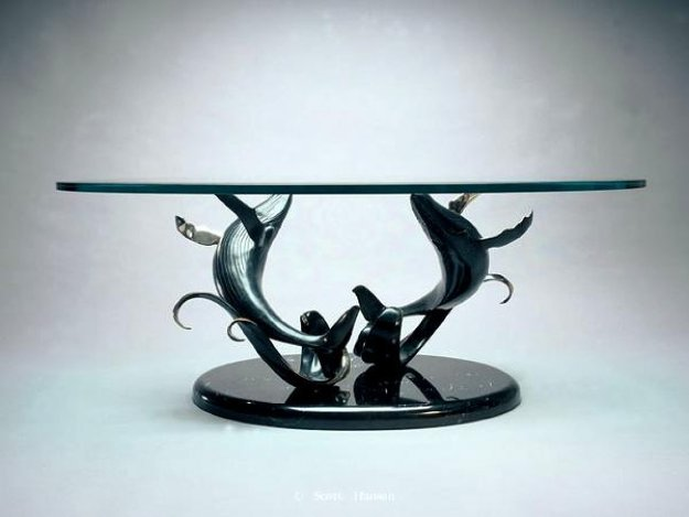 Making Waves Bronze  Sculpture Coffee Table 1998