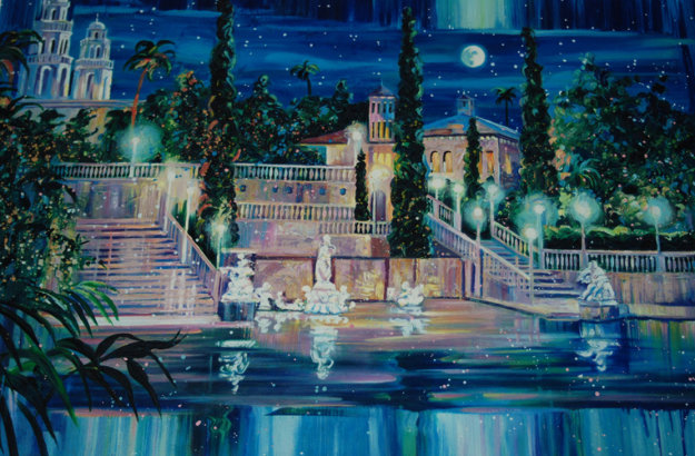 Starry night at san simeon california 1998 hearst castle for Best way to sell your art online