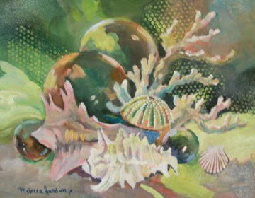 Treasures of the Sea 2013 22x28 Original Painting - Rebecca Hardin
