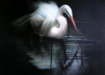 Untitled (Egret) 2003 56x80 Original Painting - Ray Hare