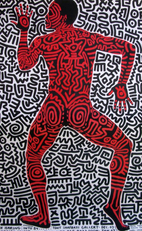Blueprint drawings 13 1990 hs by keith haring into 84 poster malvernweather Gallery