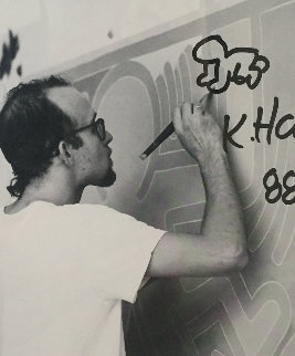 Lithograph and Baby Remarque With Original Drawing 1988 Limited Edition Print - Keith Haring