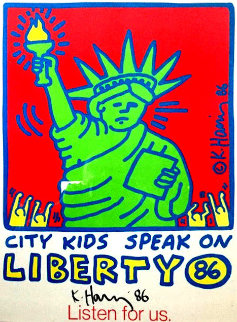 City Kids Speak on Liberty Poster 1986 HS Limited Edition Print - Keith Haring