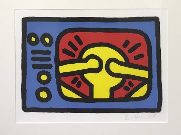 Untitled C 1987 Limited Edition Print - Keith Haring