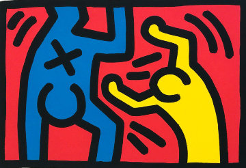 Untitled D 1987 Limited Edition Print - Keith Haring