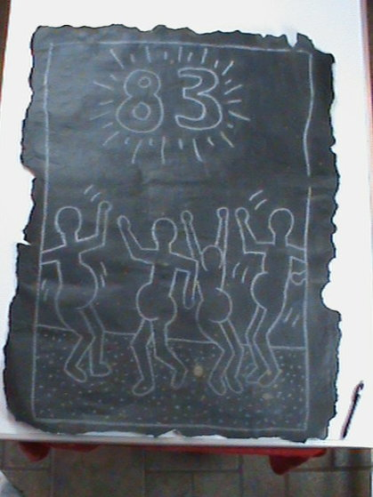 Untitled by Artist. Titled Happy New Year 1983 by Current Owner 39x29