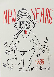 Untitled Poster: New Years 1988  Limited Edition Print - Keith Haring