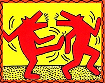 Untitled Poster (Dancing Dogs) Limited Edition Print - Keith Haring