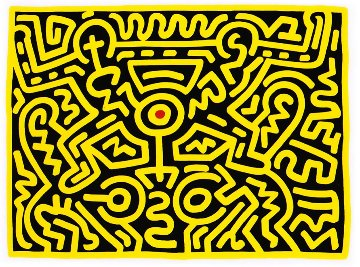 Growing IV 1988 Limited Edition Print - Keith Haring