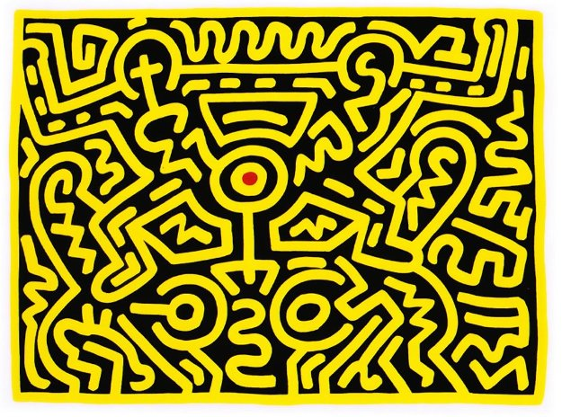 Growing IV 1988 by Keith Haring