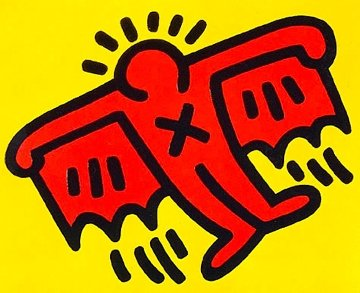 X-Man From Icons 1990 Limited Edition Print - Keith Haring