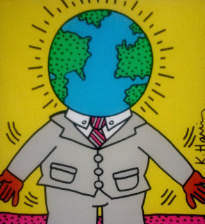 World Man Poster 1988 Limited Edition Print - Keith Haring
