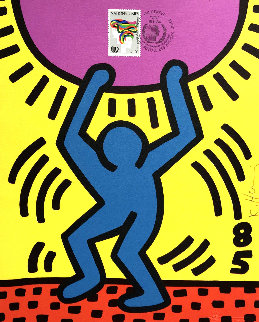 International Youth Year 1985 Limited Edition Print - Keith Haring
