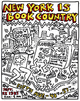 New York is Book Country HS Limited Edition Print - Keith Haring