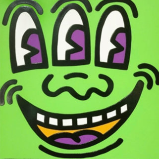 Three Eyed Face From Icons 1990 Limited Edition Print - Keith Haring