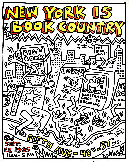 New York is Book Country Poster 1985 HS Limited Edition Print - Keith Haring