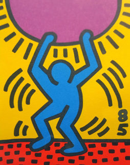 United Nations International Youth Year 1985 Limited Edition Print - Keith Haring