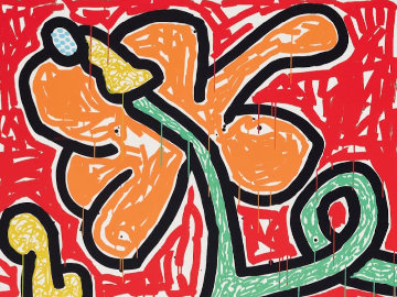 Flowers V 1990 Limited Edition Print - Keith Haring