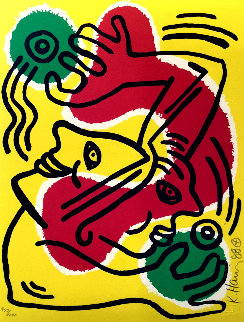 Untitled Lithograph 1988 Limited Edition Print - Keith Haring
