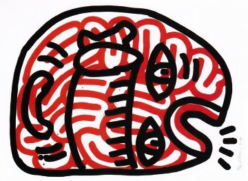 Ludo #2 1985 HS Limited Edition Print - Keith Haring